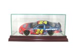 ETCHED GLASS 1/24 SCALE SINGLE DIECAST CAR DISPLAY CASE - DESKTOP