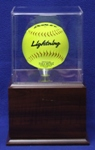SOFTBALL ACRYLIC DISPLAY CASE WITH RAISED PLATFORM BASE