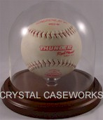 SOFTBALL REAL GLASS DISPLAY CASE DOME