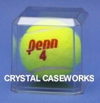 TENNIS BALL ACRYLIC DISPLAY CASE WITH BEVELED EDGES