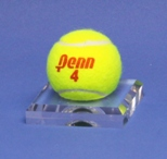 TENNIS BALL DIMPLE BLOCK ACRYLIC DISPLAY STAND