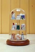 "4"" X 7"" GLASS DISPLAY DOME CASE FOR THIMBLE"