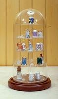 "5-1/2"" X 11"" GLASS DISPLAY DOME CASE FOR THIMBLE"