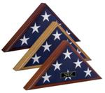 TRADITIONAL BURIAL CASKET MEMORIAL FLAG DISPLAY CASE
