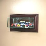 ETCHED GLASS 1/24 SCALE NASCAR DIECAST GLASS DISPLAY CASE � WALL MOUNT