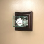 SINGLE BASEBALL GLASS DISPLAY CASE - WALL MOUNT