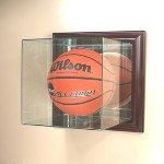 BASKETBALL SOCCER BALL GLASS DISPLAY CASE � WALL MOUNT