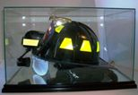 FIREFIGHTER - RESCUE HELMET GLASS DISPLAY CASE - DESKTOP